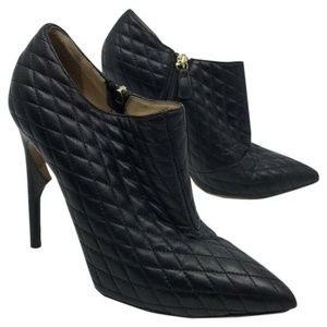 JEROME C ROUSSEAU Black Leather Quilted High Heel